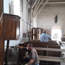 Nettoyage de l'église en septembre 2017